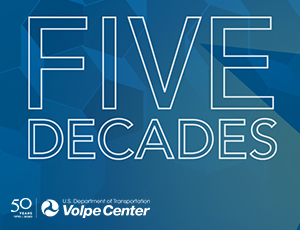 "An illustration that says ""Five Decades"""