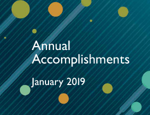 An illustration of Annual Accomplishments January 2019