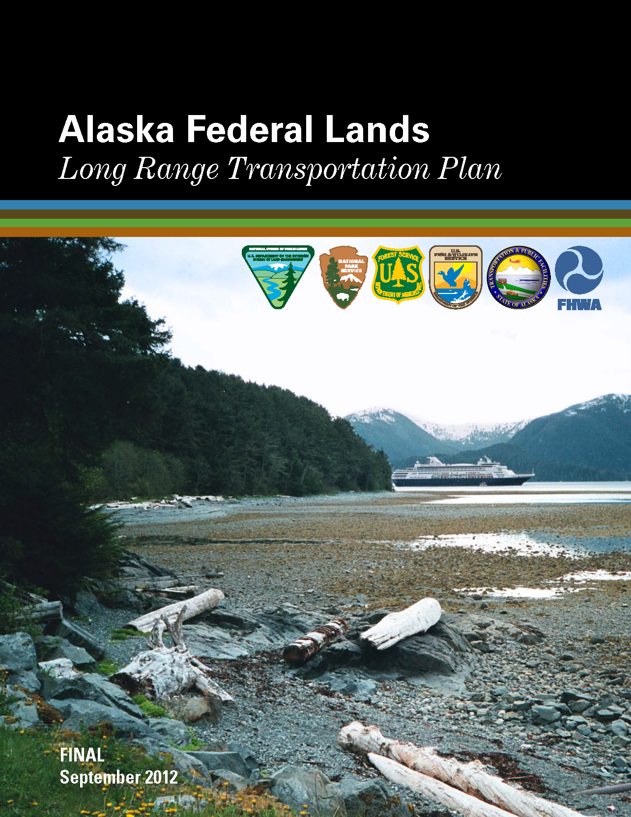 Image of a document cover with logos of different FLMAs and a mountainous scene.