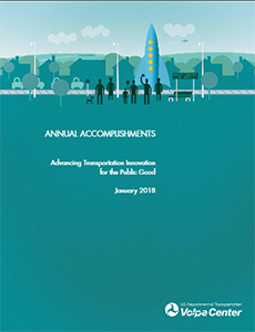 Report cover for Volpe's annual accomplishments.