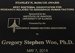 Stanley N. Roscoe award plaque
