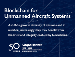 Blockchain for Unmanned Aircraft System report cover.