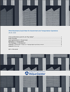 Cover image of the blockchain report.
