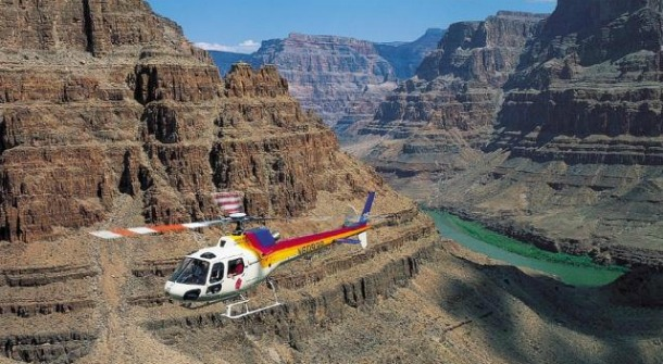 Helicopter tour in a National Park