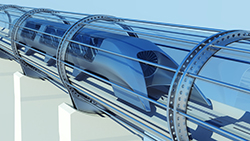 Image of a hyperloop concept vehicle