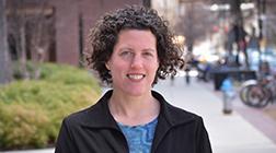 Volpe environmental biologist Dr. Kristin Lewis