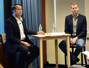 Kyle Vogt and Derek Kan spoke before an audience at the U.S. DOT Volpe Center