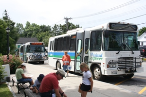 Propane-powered Island Explorer bus fleet at Acadia National Park
