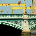 Bridge being repaired.