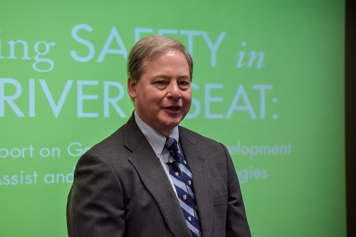 Harry Lightsey speaks at U.S. DOT's Volpe Center.
