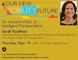 a poster for Sarah Kaufman's talk