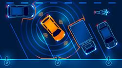 Autonomous vehicle navigating a parking spot