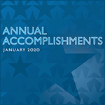 An illustration that says annual accomplishments january 2020