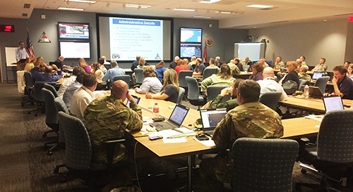 Meeting at the North Carolina State Emergency Operations Center