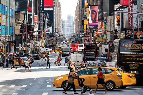 Image of a busy street in New York City.