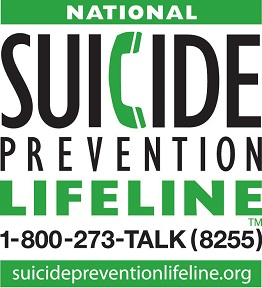 National Suicide Prevention Lifeline: 1-800-273-8255
