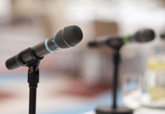 A photo of microphones. (halfpoint/123RF photo)