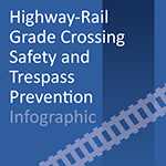 Highway-Rail Grade Crossing Safety and Trespass Prevention Infographic button