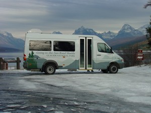 Going-to-the-Sun Road Shuttle at Glacier National Park