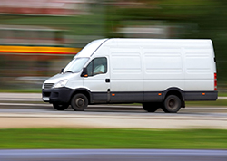 A delivery van